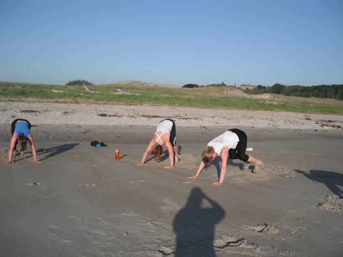 Strength Training on the Beach
