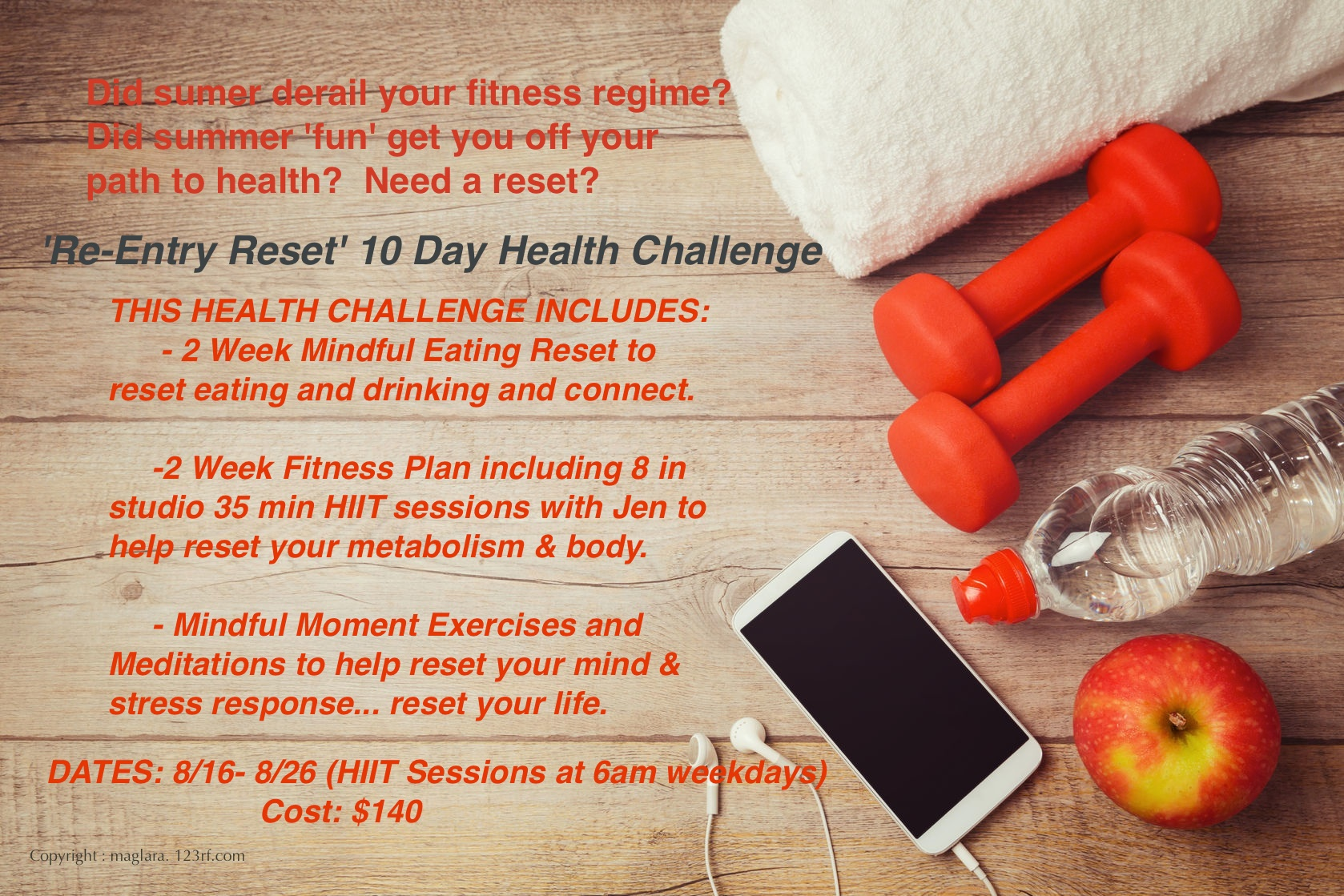 FItness background Health Challenge