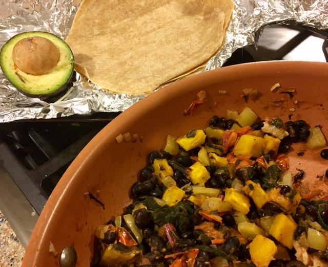 Black Bean Delicata Burrito